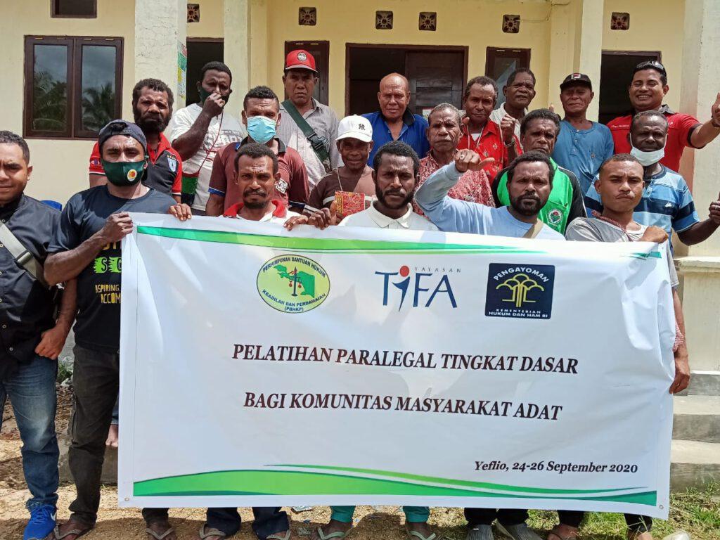 Pelatihan Paralegal Tingkat Dasar Sukses Dilaksanakan, Kampung Yeflio Segera Punya Kader Paralegal